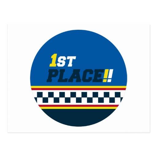 1r lugar - pole position tarjeta postal
