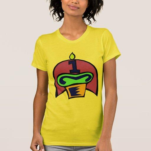 1r Magdalena del cumpleaños Camisetas