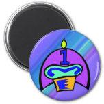1r Magdalena del cumpleaños Imán De Frigorífico