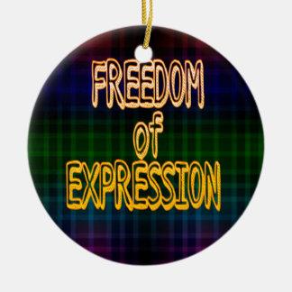 1r Modelo de la tela escocesa de la libertad de Adorno Navideño Redondo De Cerámica