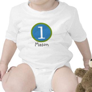 1r Muchacho adaptable de la camiseta del cumpleaño