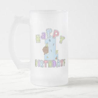 1r Muchacho del cumpleaños, afroamericano Taza De Café