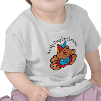 1r muchacho del cumpleaños de Beary Camiseta
