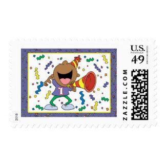 1r Muchacho del cumpleaños Sellos Postales