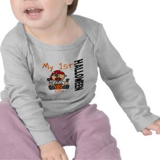 1r MUCHACHO del pirata de Halloween 2009 del bebé Camisetas