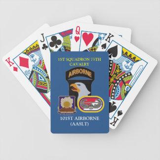 1r NAIPES de ABN de la 75.a CABALLERÍA de la Baraja Cartas De Poker