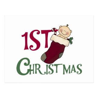 1r Navidad-Bebé en la media Tarjetas Postales