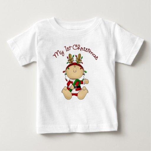1r navidad de Babys Camisetas