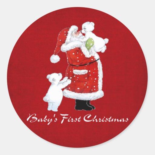 1r navidad de Babys Etiquetas