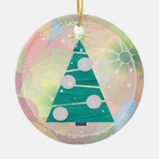 1r navidad del DÍA DE FIESTA en colores pastel del Adorno Para Reyes