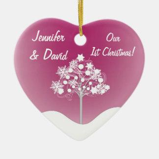 1r Navidad que casa el ornamento Adorno Navideño De Cerámica En Forma De Corazón
