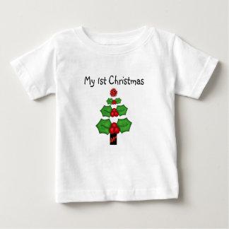1r Navidad T-shrt de los niños del navidad Playera De Bebé