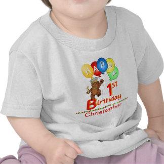 1r Nombre real del personalizado de Beary del pelu Camiseta