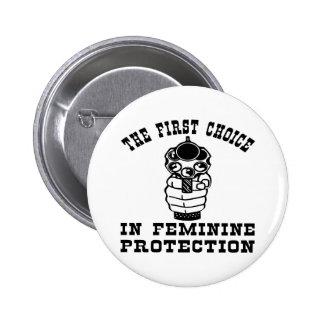 1r Opción en la protección femenina, un arma Pin Redondo De 2 Pulgadas
