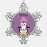 1r Ornamento del copo de nieve del estaño del Adorno De Peltre En Forma De Copo De Nieve