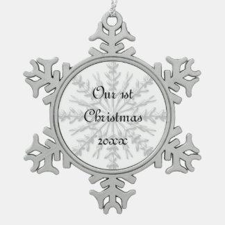 1r Ornamento del copo de nieve del navidad junto Adornos