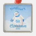 1r ornamento del muñeco de nieve del navidad de la ornamentos de reyes