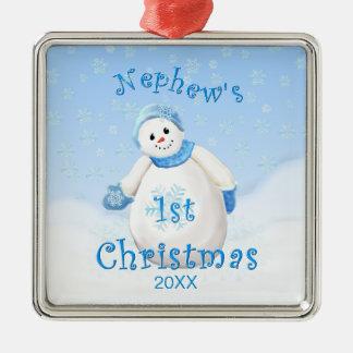 1r ornamento del muñeco de nieve del navidad del s adorno de reyes