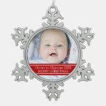 1r ornamento del navidad del bebé de encargo de la adorno