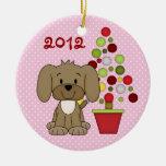 1r ornamento del perro del navidad del bebé person ornamento de reyes magos
