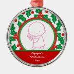 1r ornamento del personalizado del navidad del beb ornamento de navidad