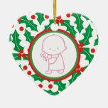 1r ornamento del personalizado del navidad del beb adornos