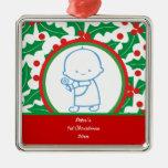 1r ornamento del personalizado del navidad del beb adornos de navidad