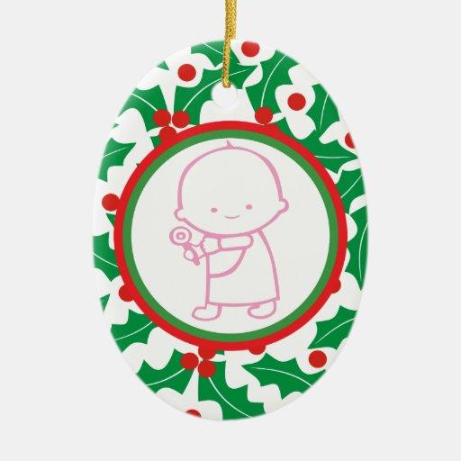 1r ornamento del personalizado del navidad del beb ornamentos para reyes magos