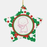 1r ornamento del personalizado del navidad del beb ornamento para arbol de navidad