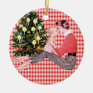 1r ornamento retro del navidad de Babys Ornamento De Reyes Magos
