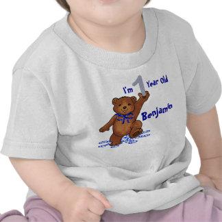 1r Oso de peluche del cumpleaños Camisetas