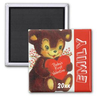1r oso del el día de San Valentín del bebé lindo d Iman De Nevera