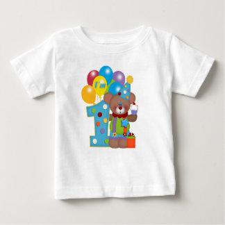 1r Oso del payaso del cumpleaños Playeras