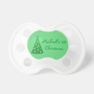 1r pacificador del navidad del bebé personalizado chupetes para bebes