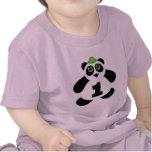 1r Panda linda del cumpleaños Camiseta