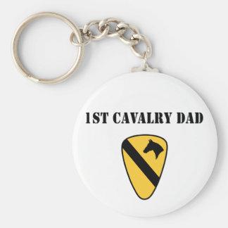 1r Papá de la caballería Llavero Redondo Tipo Pin