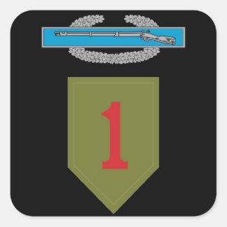 1r Pegatina del CIB de la división de infantería