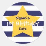 1r pegatina del cumpleaños del bebé