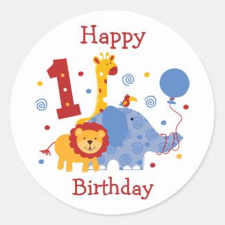 1r pegatina del personalizado del cumpleaños del