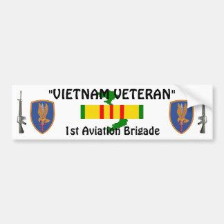 1r Pegatina para el parachoques de la brigada de a Pegatina Para Auto