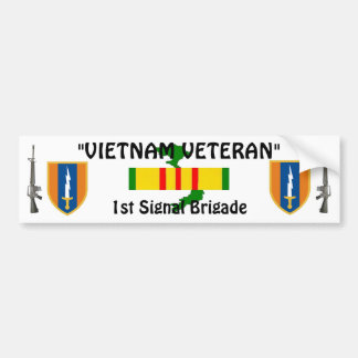 1r Pegatina para el parachoques de la brigada de S Pegatina Para Auto