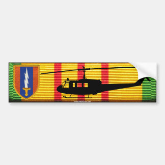 1r Pegatina para el parachoques de la brigada UH-1 Pegatina Para Coche