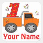 1r Pegatina personalizado camión volquete del cump