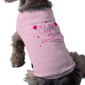 1r Perro del cumpleaños Camisa De Mascota