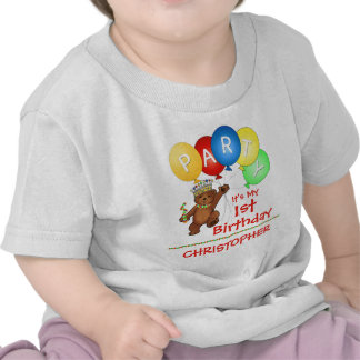 1r personalizado de la fiesta de cumpleaños del os camisetas