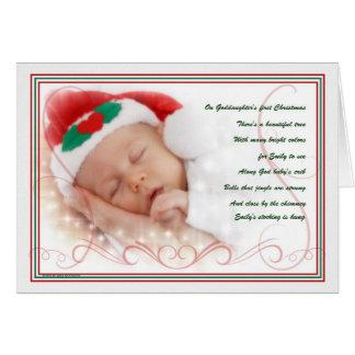 1r personalizado del navidad el | de la ahijada tarjeta de felicitación