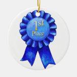 1r Ponga el medallón de la cinta Ornamento De Navidad