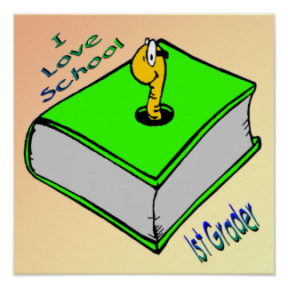1r poster del graduador del ratón de biblioteca