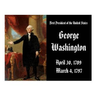 1r Presidente de los Estados Unidos George Tarjeta Postal
