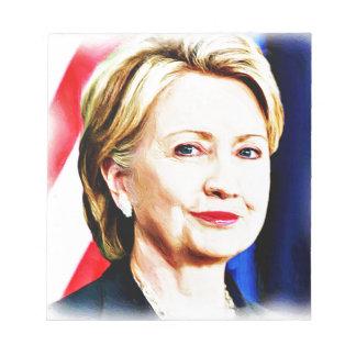 1r Presidente Hillary Clinton 2016_ de la mujer Bloc De Papel